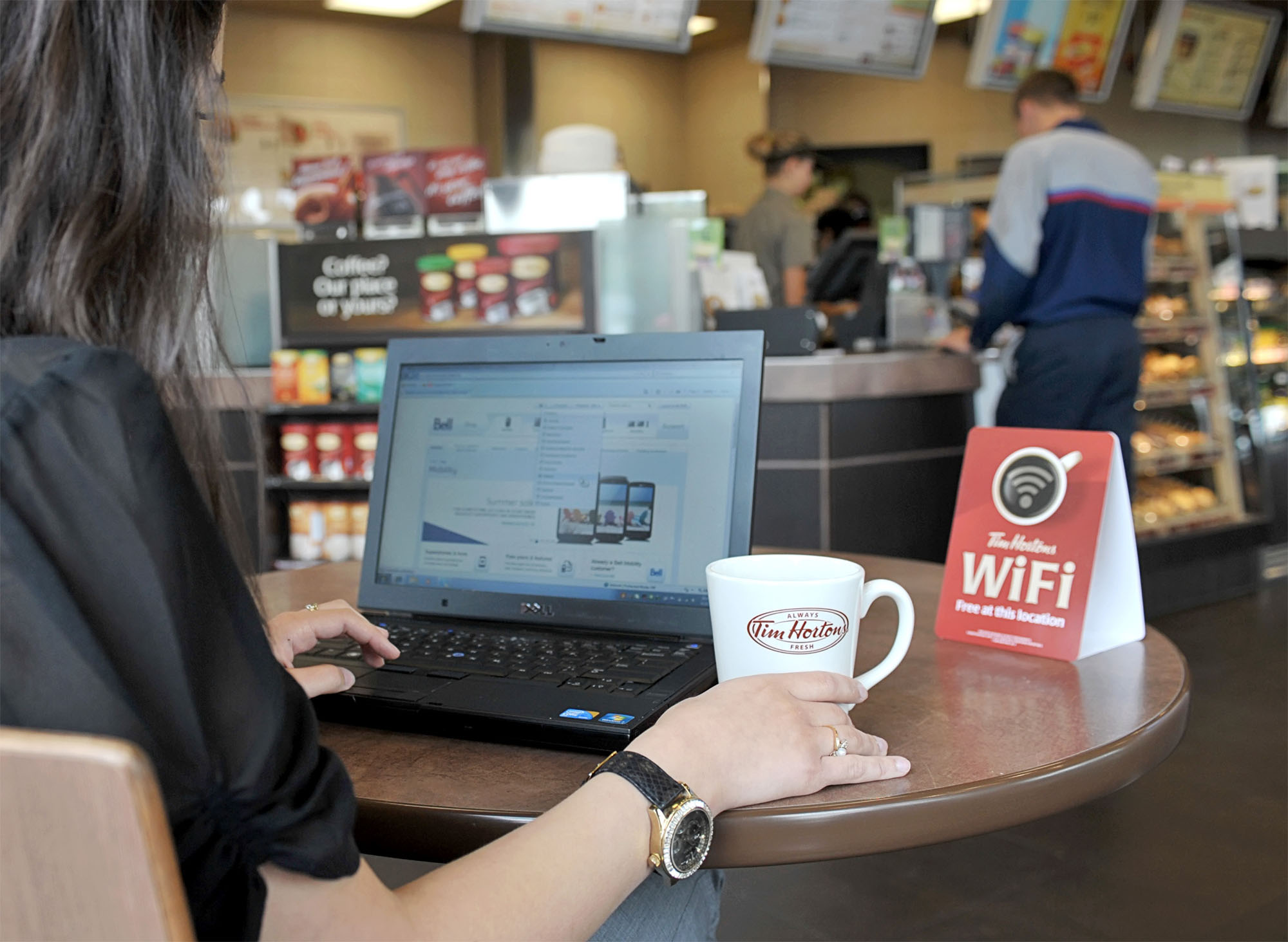 TIM HORTONS INC. - Free wireless internet coming to Tim Hortons